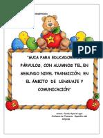 Cuadernillo Trabajo Niveles Del Lenguaje