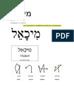 Nombre Del Arcangel Miguel en Hebreo
