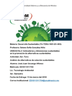 3 Foro Analisis de Alternativas de Soluciones Sustentables