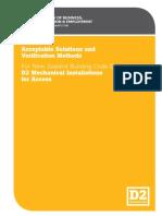 d2 Mechanical Installations for Access 2nd Edition Amendment7