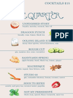 Blue Quarter Menu