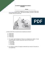Evaluacion de Matemáticas Grado 4 II Periodo