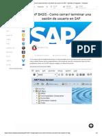 Terminar Procesos SAP