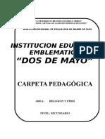Carpeta Pedagógica Dos de Mayo - Lupe 2011