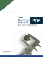 Hr Book of Metrics 2009