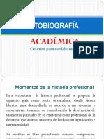 Autobiografía Académica