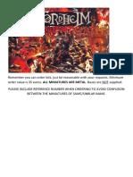 Mordheim Catalogue 2.0