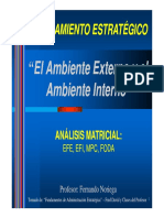 Matriz EFE, Matriz EFI y Matriz FODA