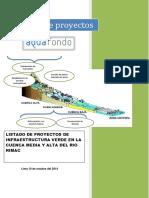 Portafolio de Proyectos de Infraestructura verde_SEDAPAL