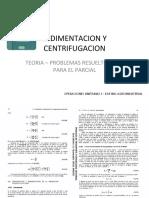 003 - Sedimentacion y Centrifugacion - Teoria - Problemas Resueltos y Encargados