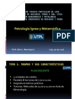 Tema 1_Petrología Ígnea y Metamórfica