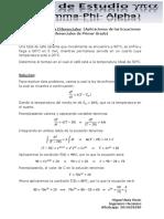 Aplicación de Ecuaciones Diferenciales Lineales (Quiz, Abril/2018)