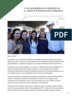 18/06/2018 Sylvana Beltrones las necesidades de la población se atienden en equipo desde la Presidencia de la República