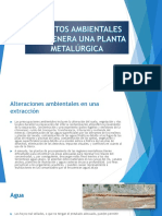 Impactos Ambientales Que Genera Una Planta Metalúrgica