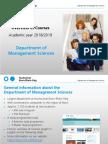 2018-02-27 Course Overview Department of Management Sciences