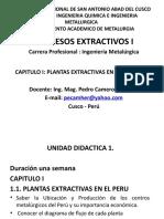 Procesos Extractivoa I - Cap I