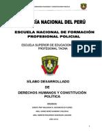 Silabo Desarrollado de Derechos Humanos y Constitucion Politica