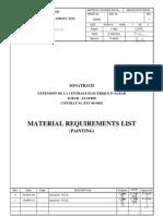 946x-Eca-pr-p-00oo04 1 Material Requirement List Painting