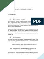 Monografia Los Recursos Procesales