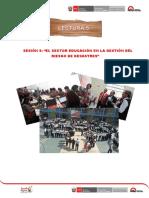 LECT5 Sector Educacion en La Gestion Del Riesgo