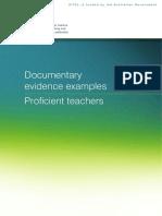 Documentary Evidence Proficient Teachers