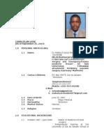 Mchembe CV