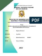 EXPERIMENTO 3 - Medir La Relacion de Transformacion y Polaridad en Transformadores Monofasico - MAQUINAS ELECTRICAS I