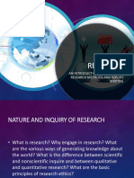 Chapter 1 - Nature and Inquiry of Reseach