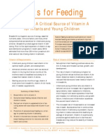 Facts for Feeding- Breast Milk- A Critical Source of Vitamin a for Infants and Young Children