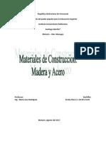 Materiales de Construccion Madera y Acero