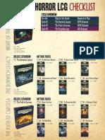 Arkham Horror LCG Checklist v1.17