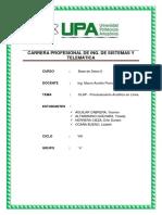 OLAP (On-Line Analytical Processing) - PROCESAMIENTO ANALÍTICO EN LÍNEA.