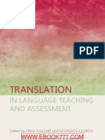 Translation in Language Teaching and Assessment - Facebook Com LibraryofHIL