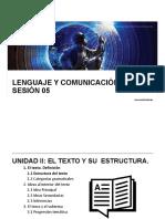LyC 2018 10 Sesión 05 Estructura Del Texto