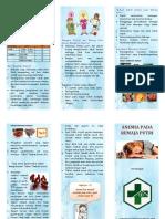 Leaflet Anemia Pada Remaja Putri