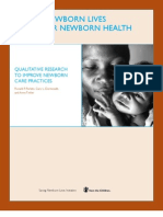 Qualitative Research to Improve Newborn Care Practices