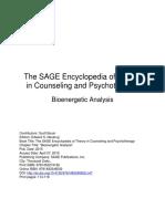 SAGE Encyclopedia - Bioenergetic Analysis