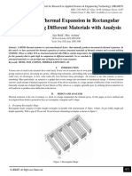 Designing of Thermal Expansion in Rectangular Geometry using Different Materials with Analysis