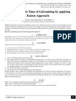 Reduce the Cycle Time of Galvanizing by applying Kaizen Approach