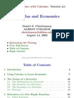 Economics and Calculus