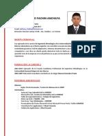 Cv Anthony Fachin Anchaya
