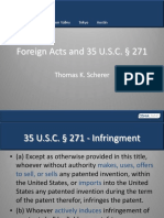 Foreign Acts and 271 Safe Harbor