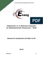 Manual de Usuario - Instalacion Del Siaf 2015 - Enaeg
