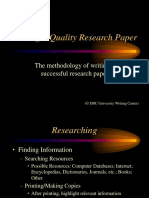 Writing a Quality Research Paper