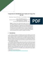 2006 - Comparaison de dissimilarités pour l'analyse de l'usage d'unsite web