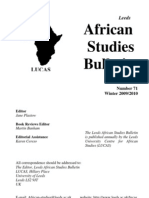 Africa Studies Bulletin No71 Winter 0910