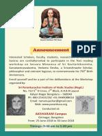 Parankushacar Brochure 2018