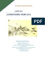 Quienes en La Astronomía Peruana
