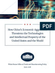 WH Trade and Economic Policy - China