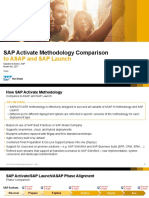 Comparison - SAP Activate, ASAP, SAP Launch